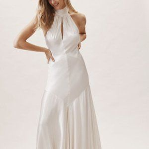 BHLDN Silk White Wedding Gown Size 4